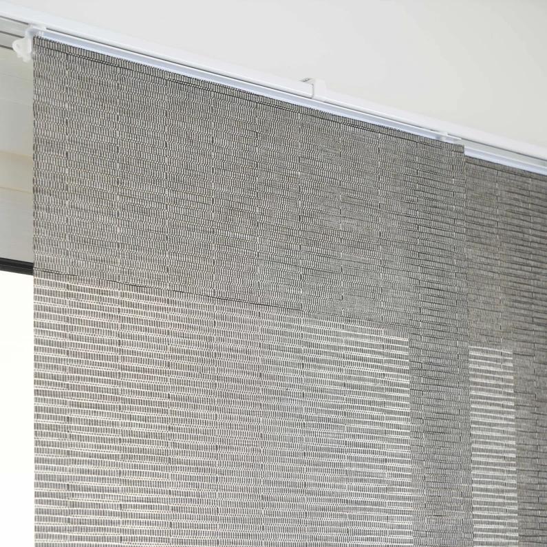 panneau japonais bambou gris h 250 x