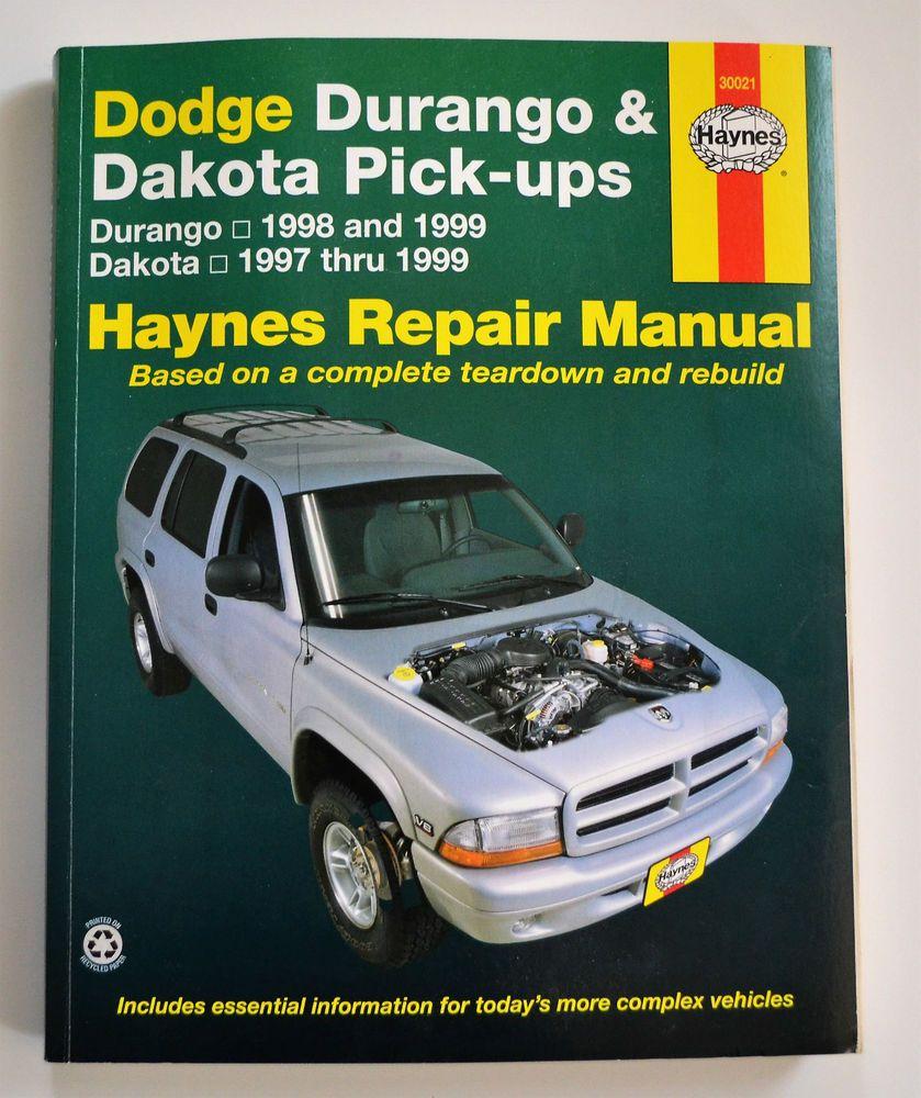 Haynes Repair Manual - Dodge Durango '98/'99 Dakota '97-99 - Good condition  | eBay