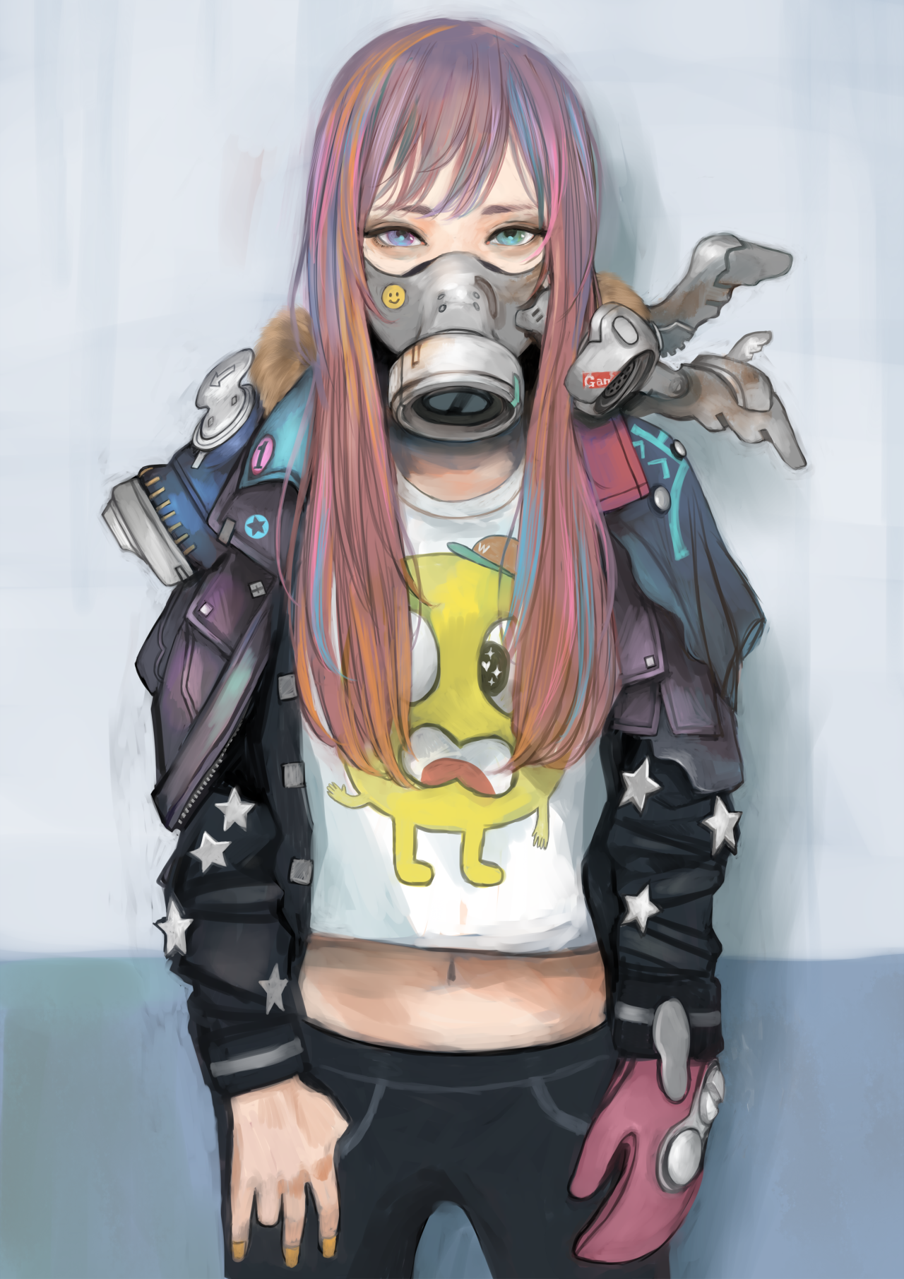 「マスク」/「ざしきわらし」のイラスト [pixiv] Gas mask art, Gas mask girl