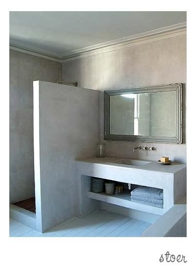 Bekijk de foto van zondag met als titel Stoere badkamer met ...