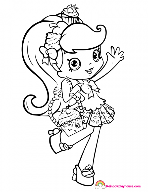 Shoppies Doll Coloring Pages Archives Rainbow Playhouse Coloring Pages for Kids Shopkins