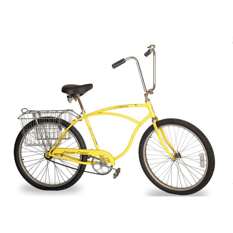 Amy Yellow Schwinn Bicycle at Found Vintage Rentals  1960s