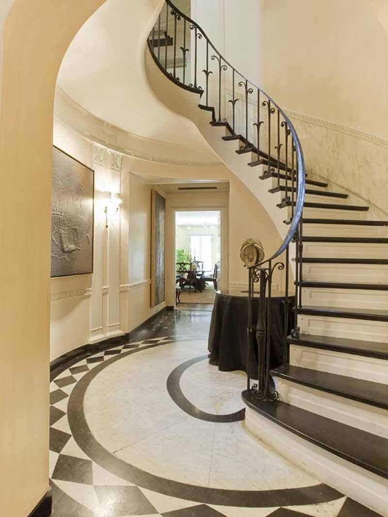 A Collection Of Amazing Staircase Design Ideas : Scandinavian Style Vintage  Townhouse Staircase Design Inspiration With Classic Railing Design