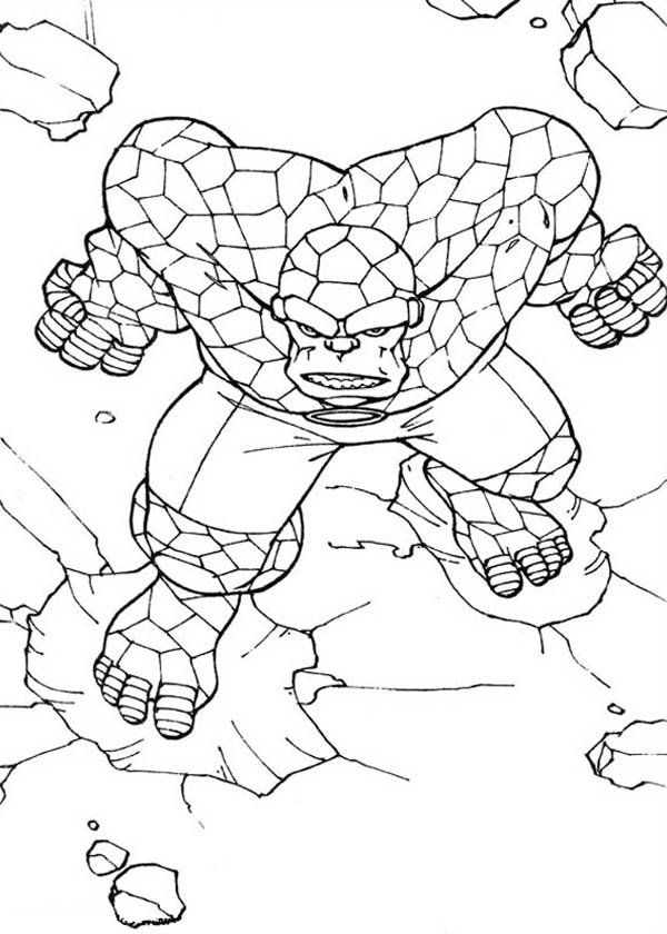 Thing Going Berserk In Fantastic Four Coloring Pages Bulk Color Coloring Pages Avengers Coloring Pages Spiderman Coloring