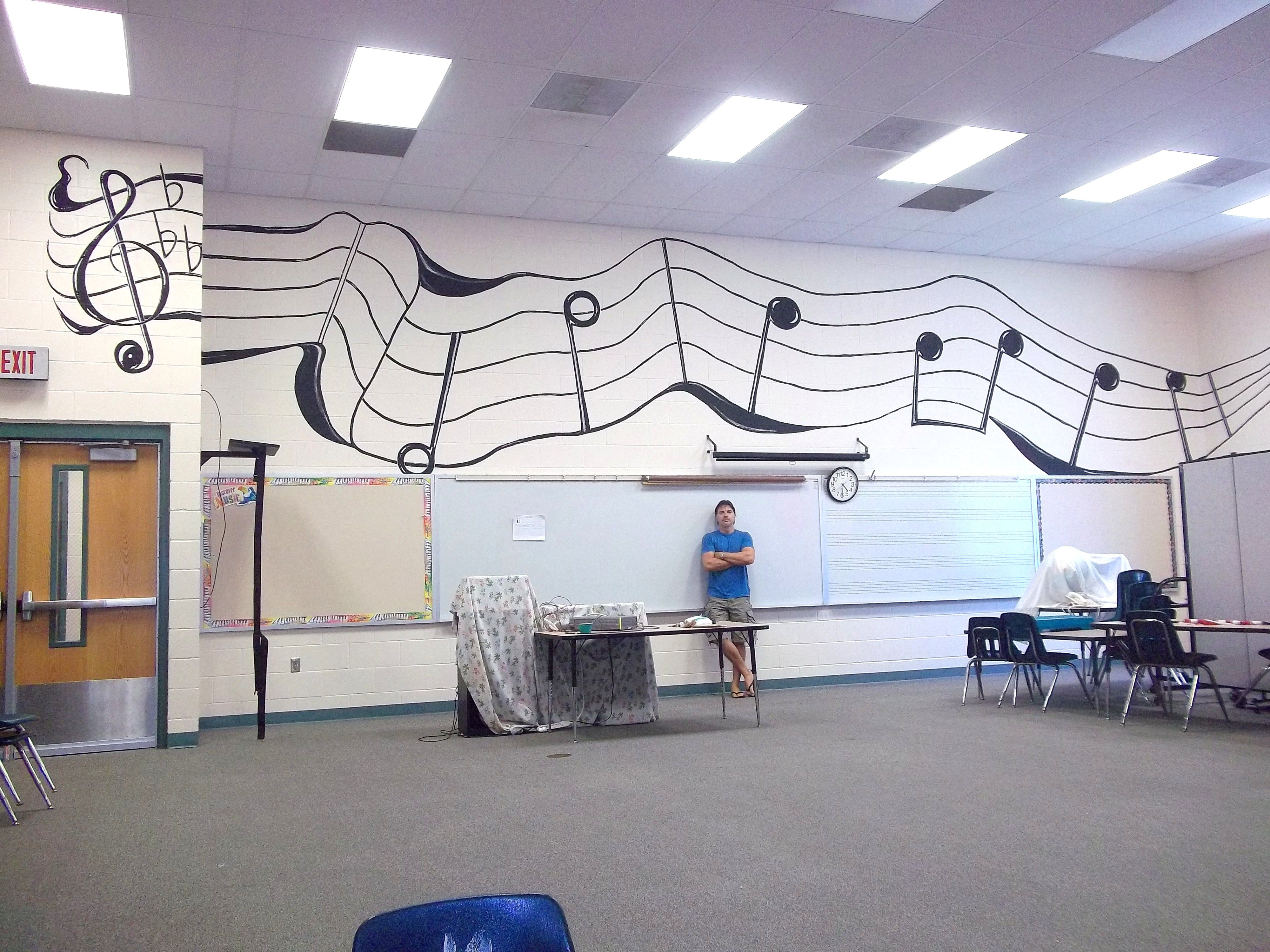 Music Classroom Wall Decorations ~ Music room mural at sunray elementary art by pinteralli