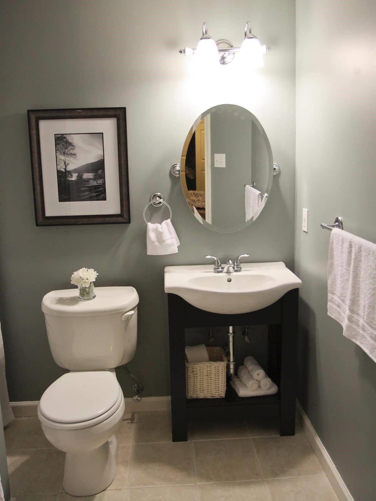 Pin By Isaiah Johnson On Bath Half Bathroom Decor Guest Bathroom Small Small Bathroom Ideas On A Budget Half bathroom design ideas