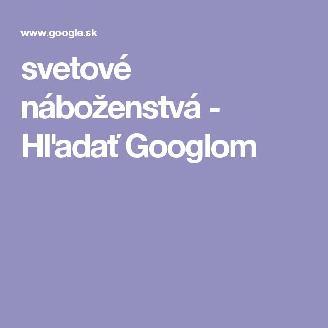 svetové náboženstvá - Hľadať Googlom