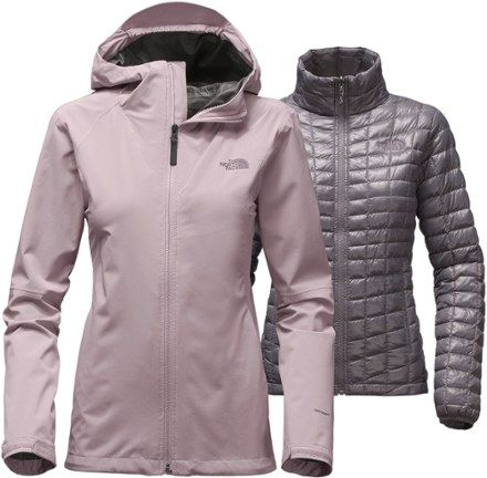 dd38cd75884c The North Face Women s ThermoBall Triclimate 3-in-1 Jacket Quail Grey XL