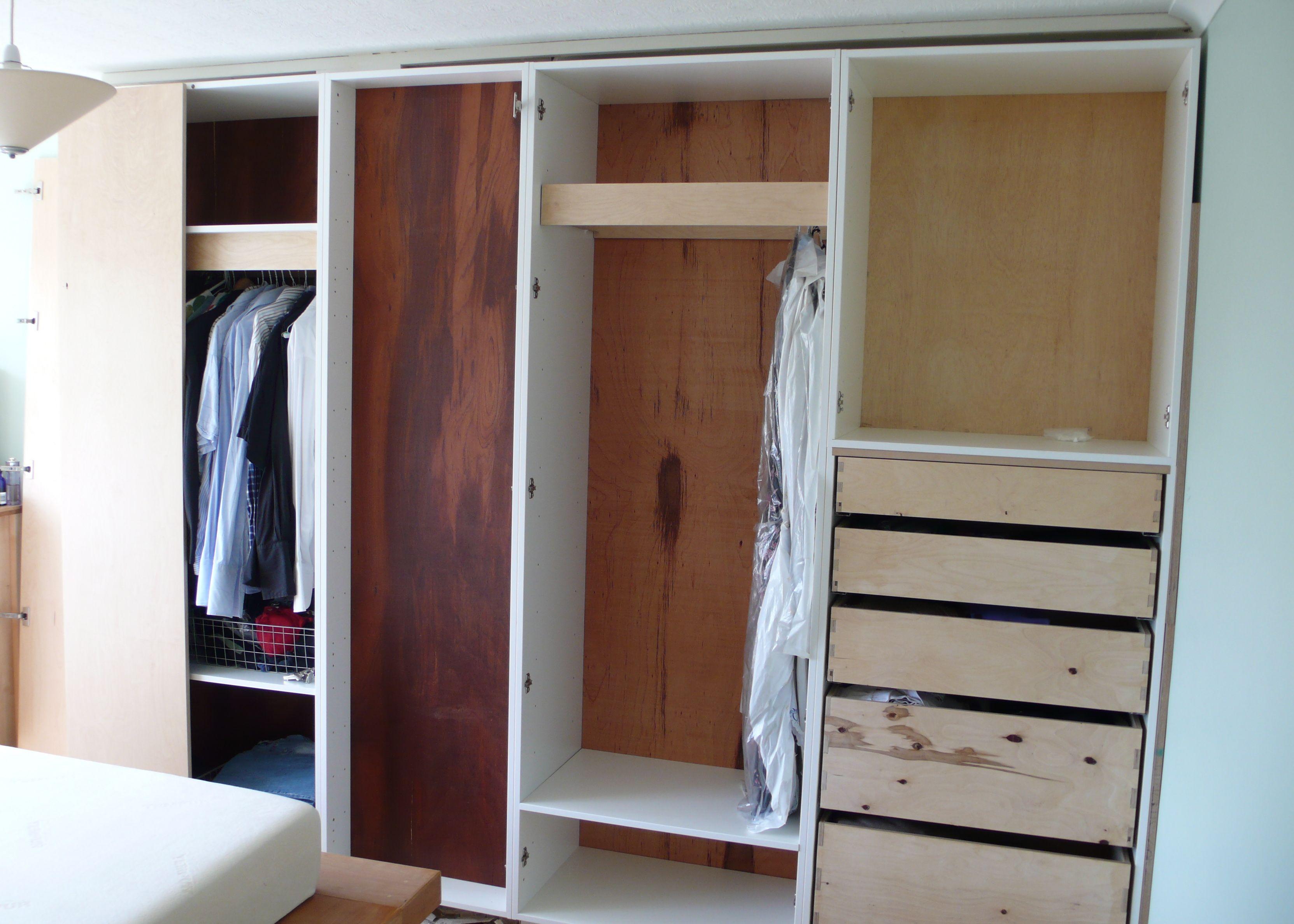 Cabinets Bedroom Bedroom Wardrobe Built Around Chimney Breast DIY ...