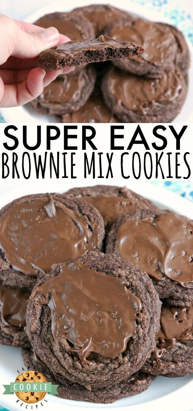 Brownies Easy Brownie Cookies are easily made with a brownie mix, butter and an egg and then froste