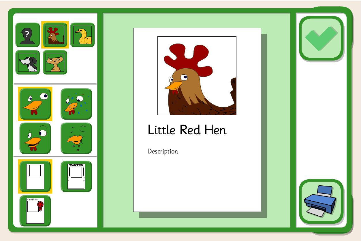 An Activity From Tes Iboard To Create Character Profiles