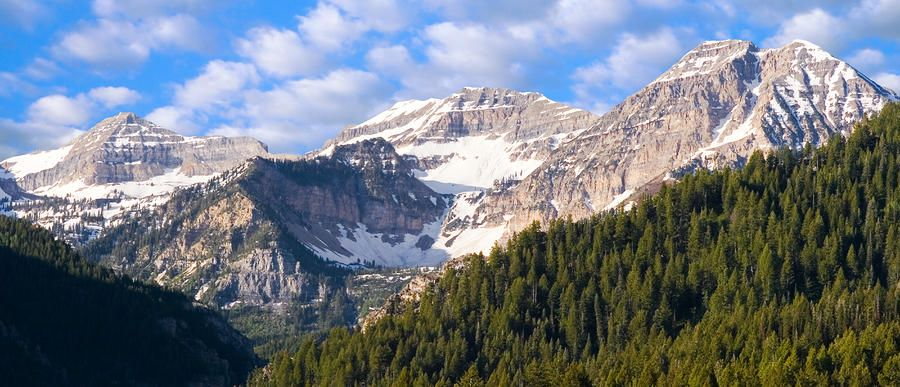 Mt. Timpanogos in the Wasatch Mountains of Utah