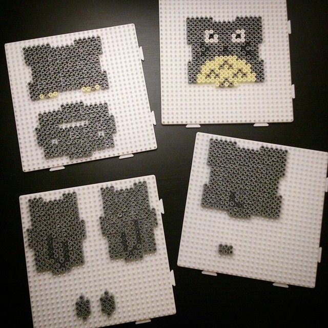 Totoro piggy bank hama beads  by omglinno