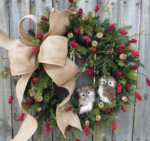 18 Wonderful Handmade Christmas Wreath Designs That Will Make Your Front  Door Shine