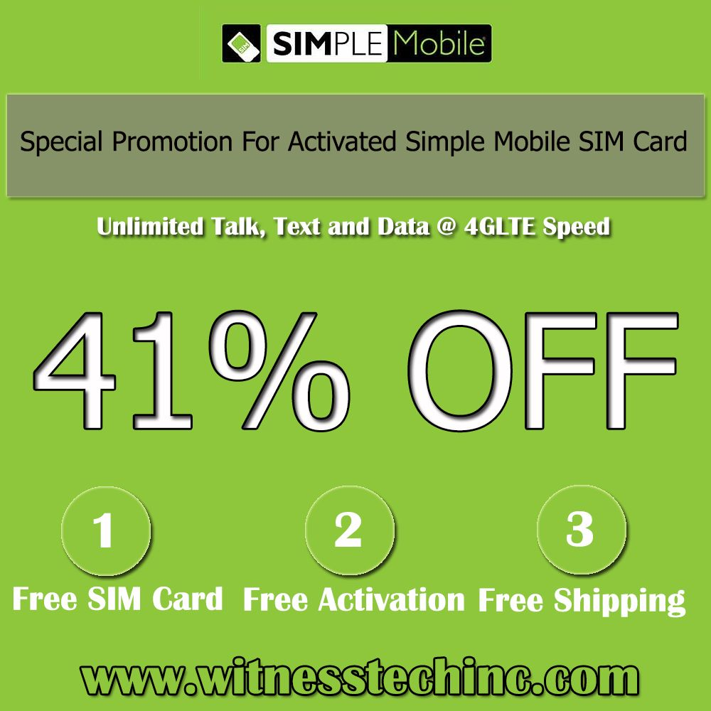 Get you new number for a 41 less on simple mobile network