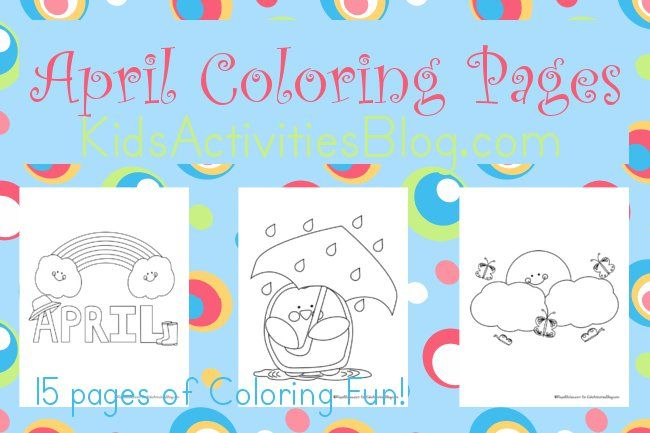 15 April Coloring Pages for Kids