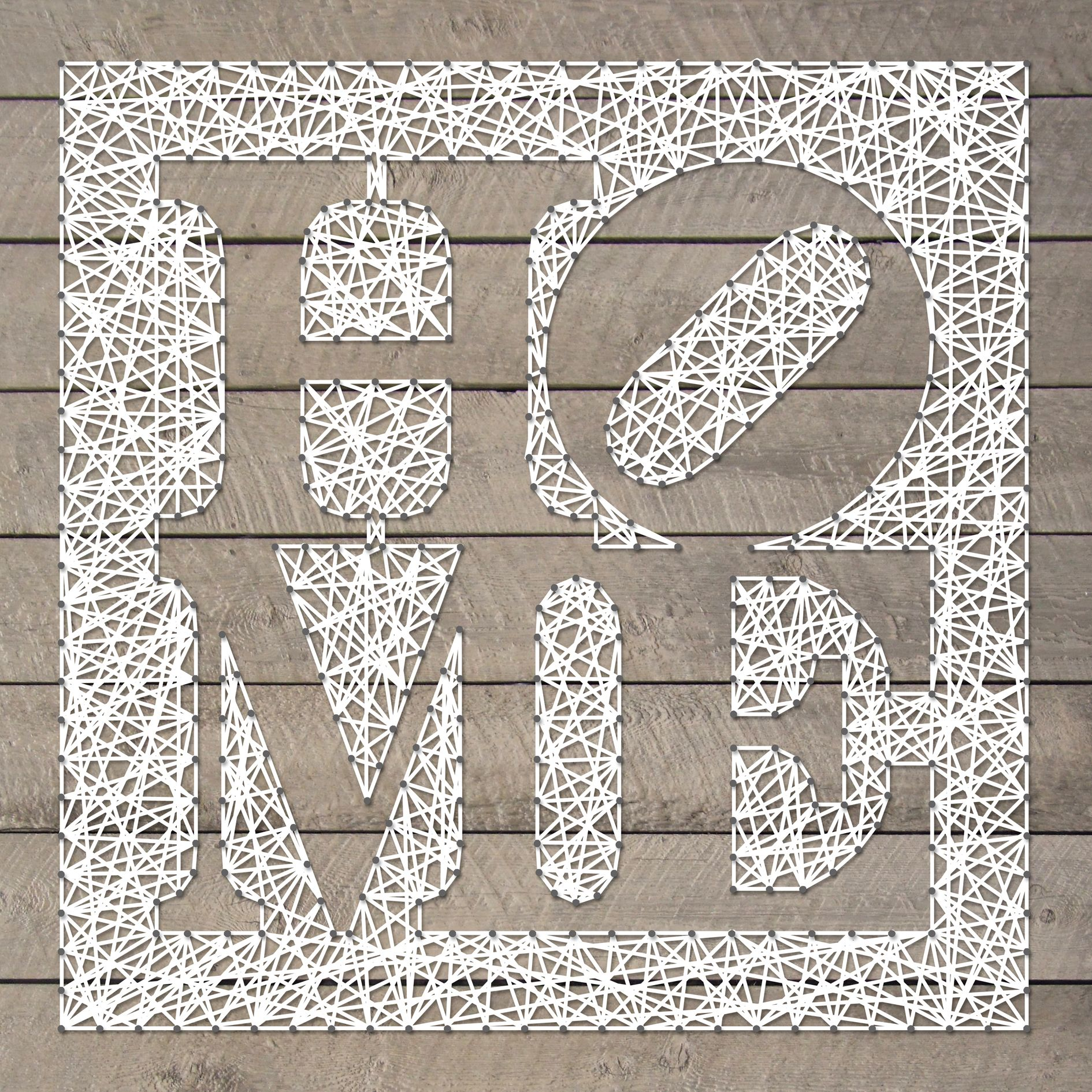 String art pattern sheet home 50 x 50cm available at for String craft patterns