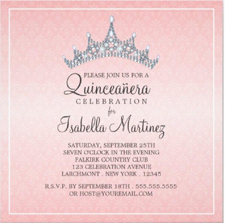 quinceanera invitation wording samples Birthday Invitation Templates, Birthday Party Invitations, Invitation Cards, 18th