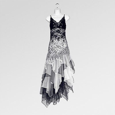 New 1920s gatsby vintage flapper lace sequin black white party ...