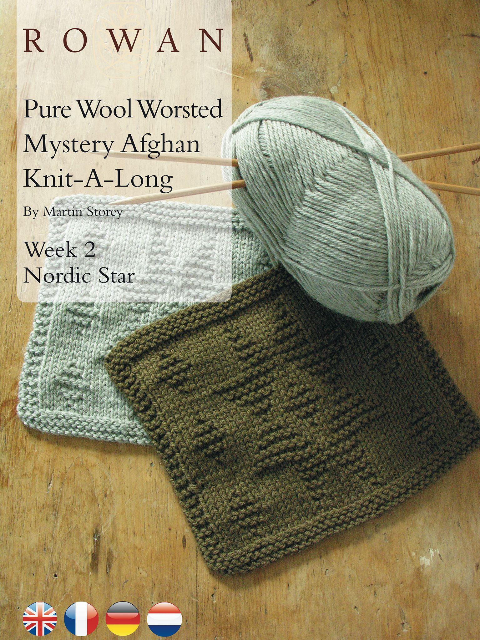 Pure Wool Worsted Mystery Afghan Knit-A-Long Week 2 Nordic Star ...