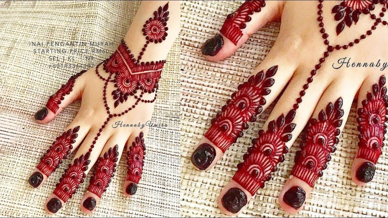 beautiful back hand jewellery mehndi design