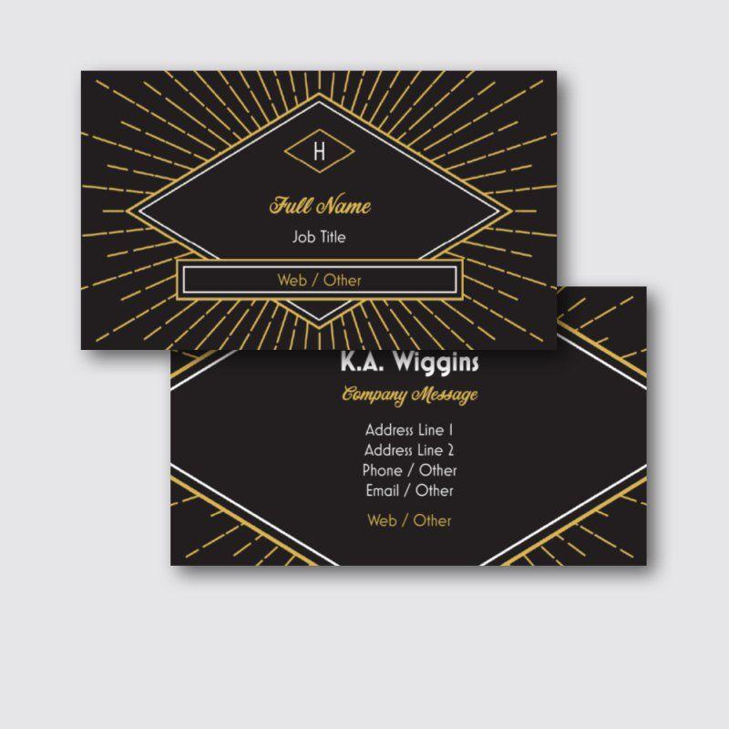 Art entertainment standard business cards templates