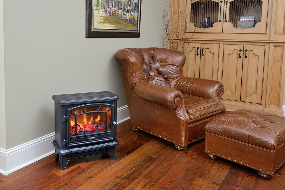 Duraflame 550 Black Infrared Freestanding Electric Fireplace Stove