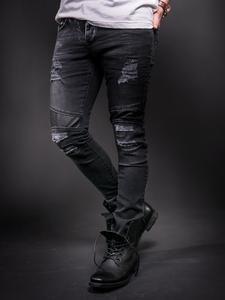 86f16e84 D&H Men Skinny Fit Motor Biker Distressed Jeans - Blue in 2019 ...