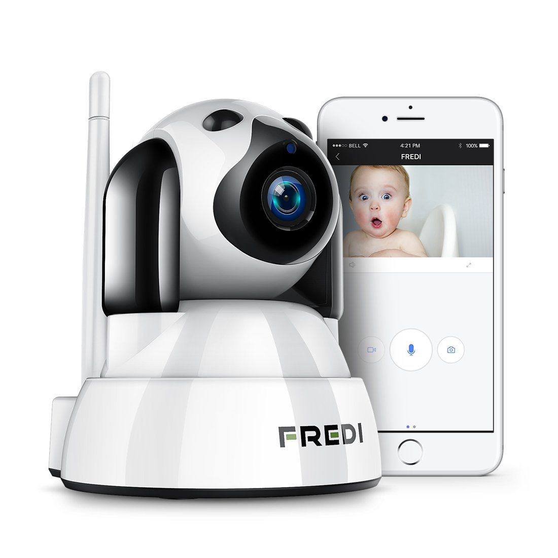 FREDI Wireless Camera Baby Monitor 720P HD Wireless