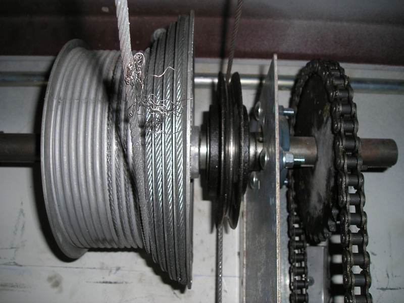 Frayed Cables Garage Door Cable Garage Door Cable Repair Broken Garage Door