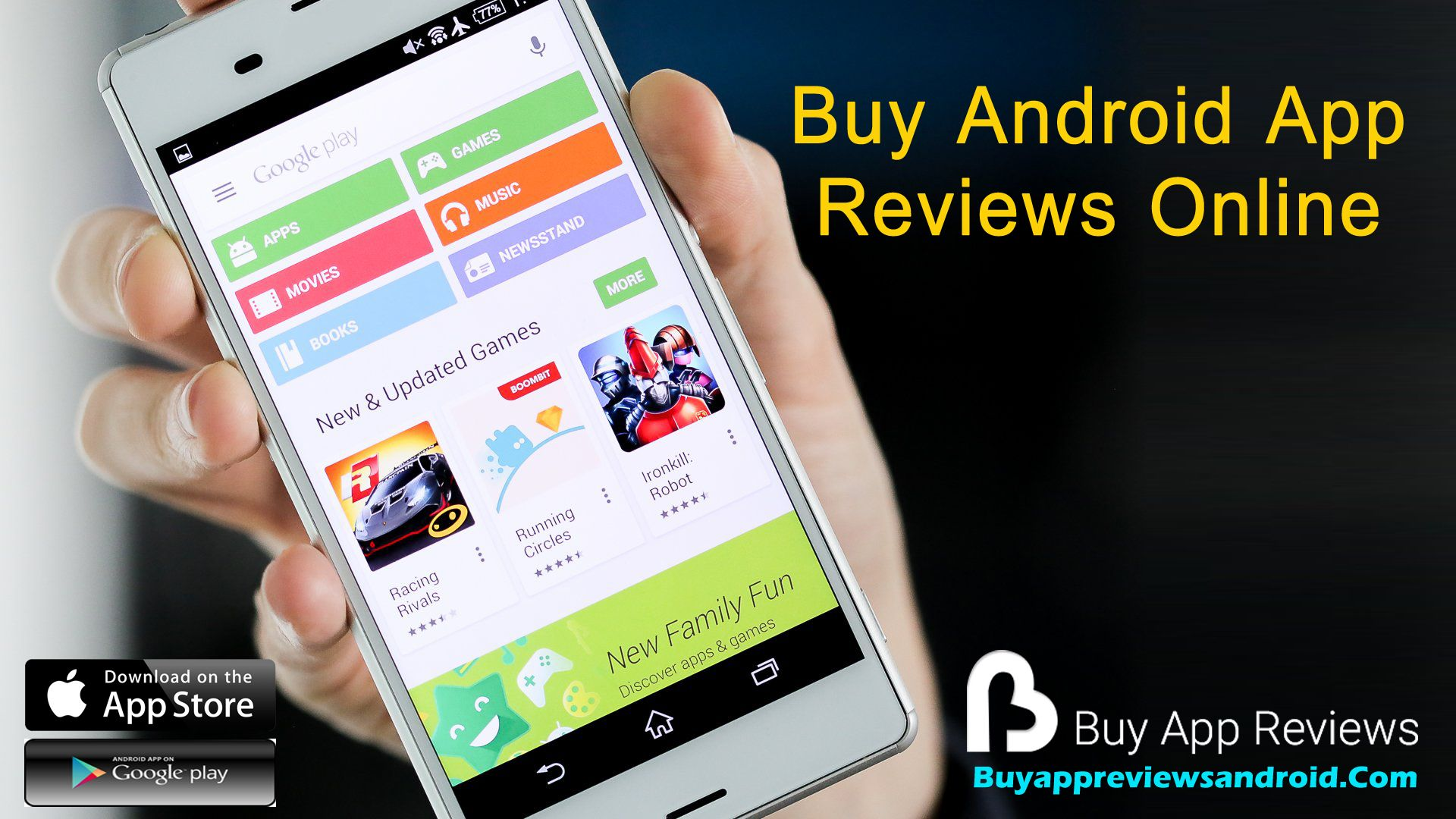 Buy app reviews for android to boost your ranking in the Google Play