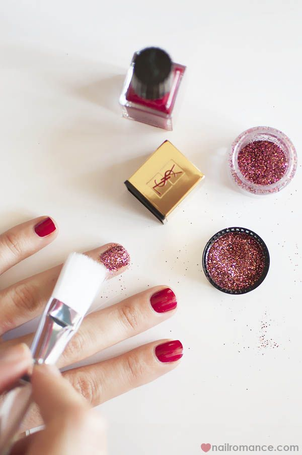 Unicornicopia Via Nail Romances 3d Glitter Feature Nail Ysl