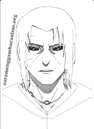 How To Draw Itachi Uchiha Face Step 8 Done Naruto