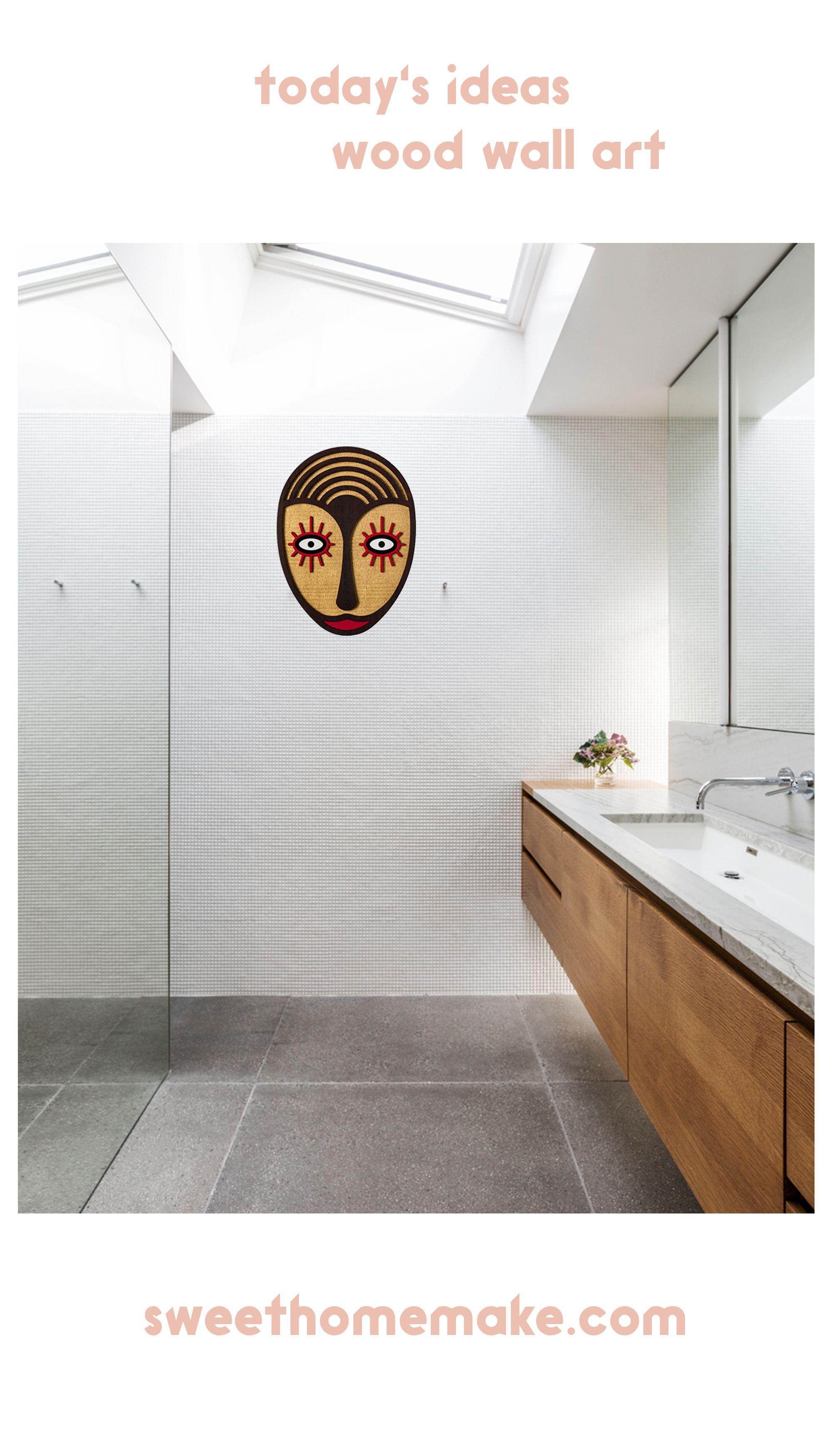 Handmade Creative Boho Wall Art With Wooden Bohemian Home Decor With Images Creative Wall Decor Bathroom Design Wall Decor Living Room
