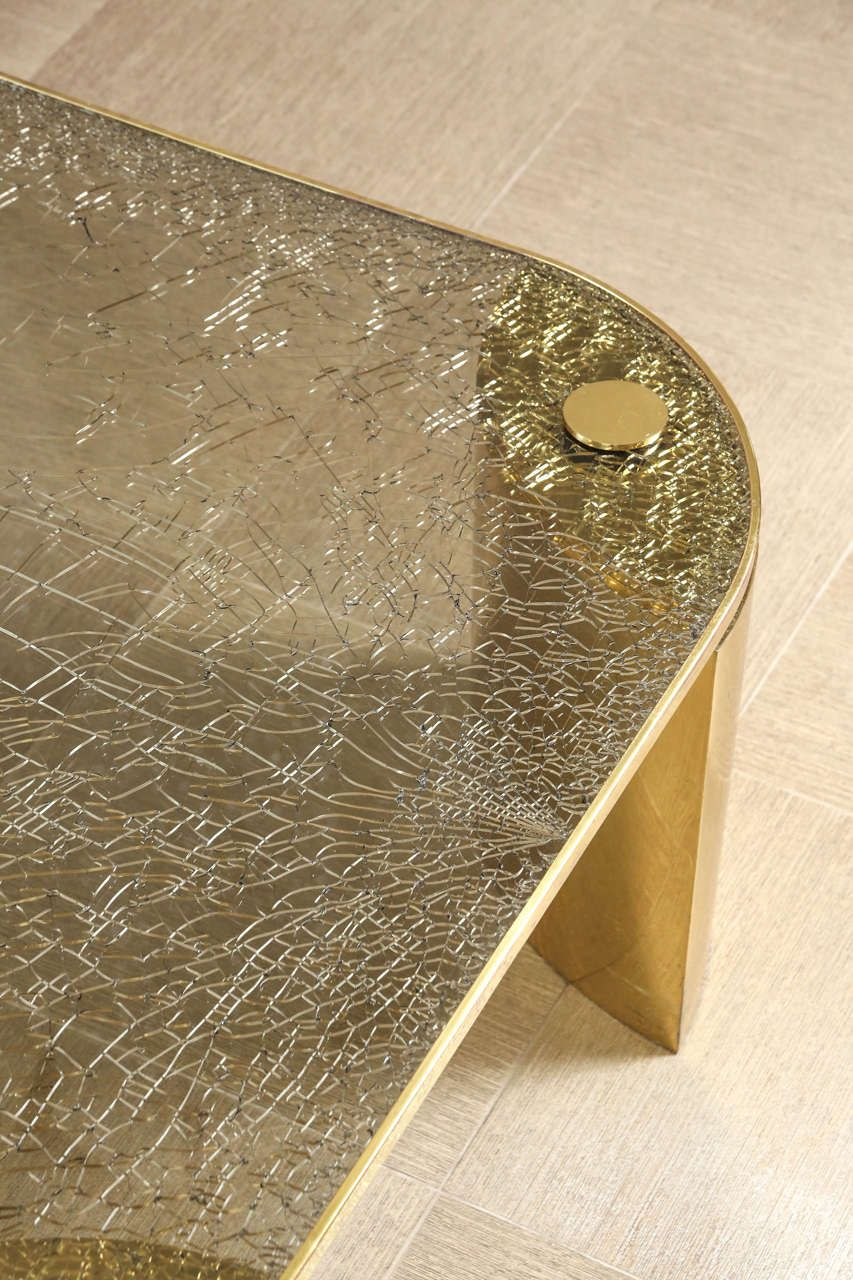 Fantastic Coffee Table Of Brass With A Crackle Glass Top By Steve Chase Crackle Glass Glass Glass Furniture [ 1280 x 853 Pixel ]