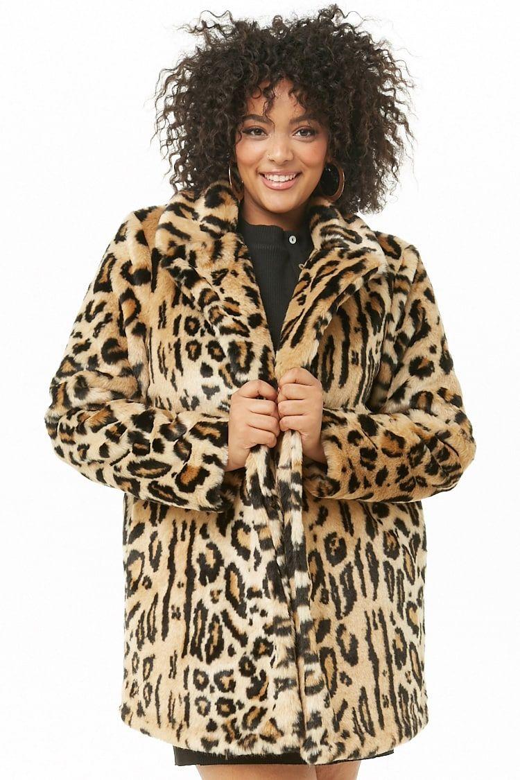 599915e8dc29 Plus Size Faux Fur Leopard Print Coat | Styles for Bodacious Babes ...