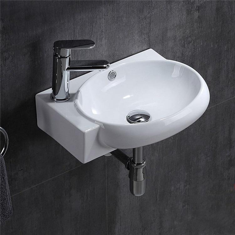 壁掛洗面ボール 手洗い鉢 手洗器 洗面ボウル 陶器 壁付 排水栓 排水