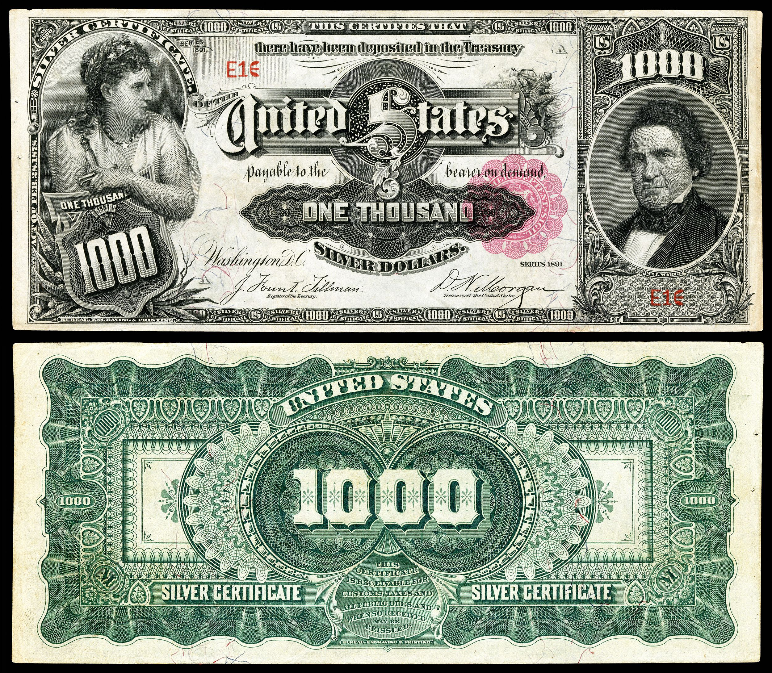 1000 dollar bill series 1891 a 1 jewelry coin 1827 w irving pk 1000 dollar bill series 1891 a 1 jewelry coin 1827 w irving pk fiat moneysilver certificaterare xflitez Images