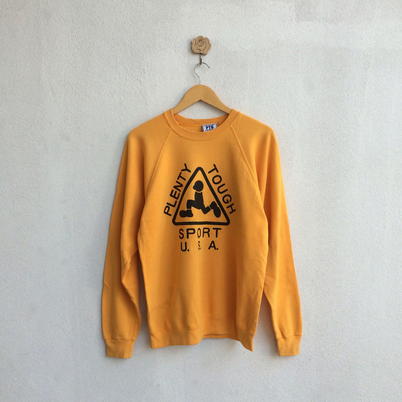Vintage 90's Plenty Tough Sport U.S.A Sweatshirt Big Logo Spellout Nice Design 0WIo6N0X6
