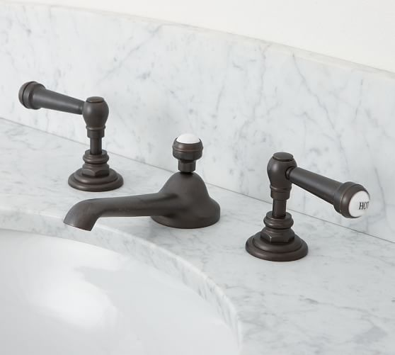 Reyes Lever Handle Widespread Bathroom Faucet | Pottery Barn