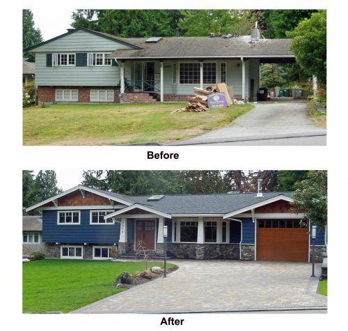 split level house remodel before and after. Black Bedroom Furniture Sets. Home Design Ideas