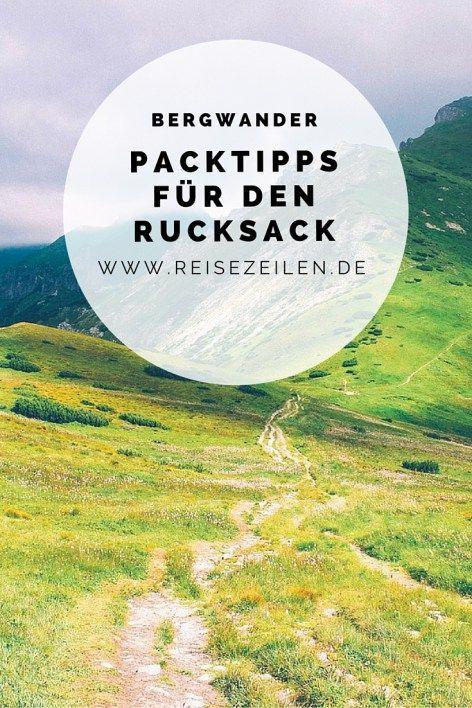 Bergwandern - Packliste für eine mehrtägige Wandertour ...