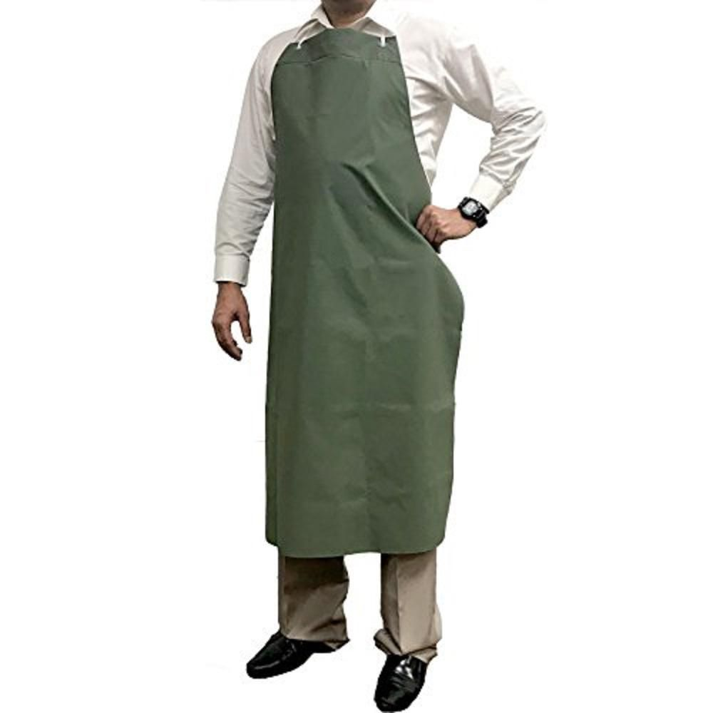 Kleen Chef Waterproof And Oilproof Vinyl Bib Apron With Adjustable Neck Small Green Blkc Es Pvc Ap1g The Home Depot Bib Apron Apron Yellow Apron
