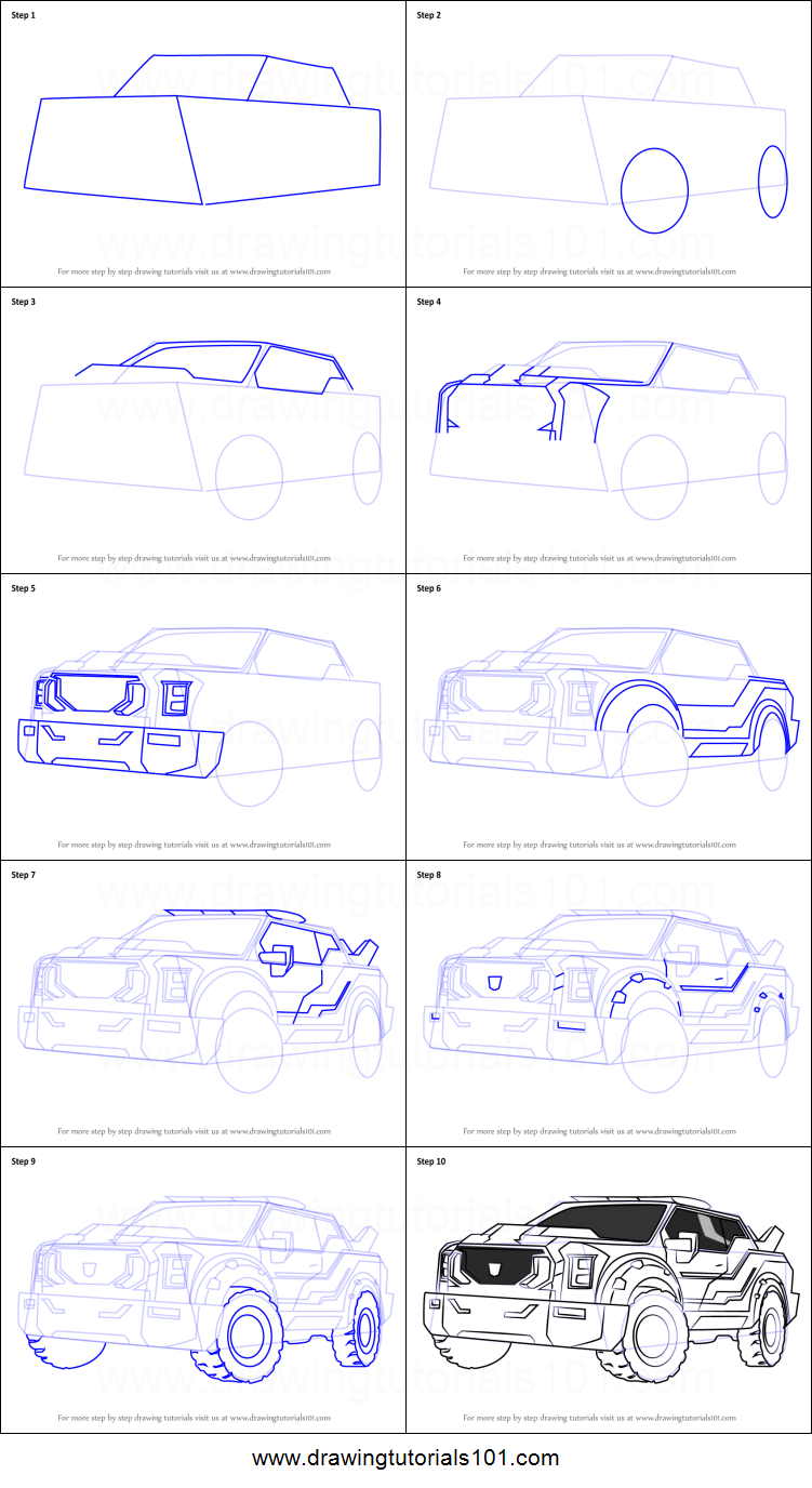 How To Draw Strongarm Disguised From Transformers Printable Drawing Sheet By Drawingtutorials101 Com Drawing Sheet Cartoon Car Drawing Car Drawings