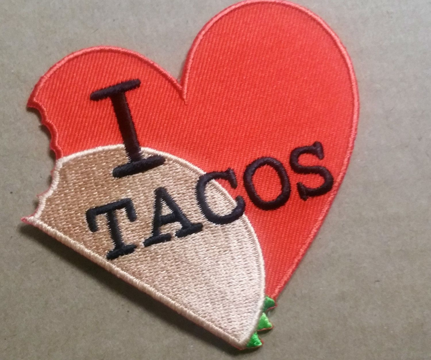Who doesn't #love #tacos : #FreeUSShipping #Ironon #Patch #ILoveTacos #tacotuesday #linkbellow #forsale #buyitnow  https://www.etsy.com/listing/499438612/iron-on-patch-i-love-tacos-heart-375-x?utm_campaign=crowdfire&utm_content=crowdfire&utm_medium=social&utm_source=pinterest