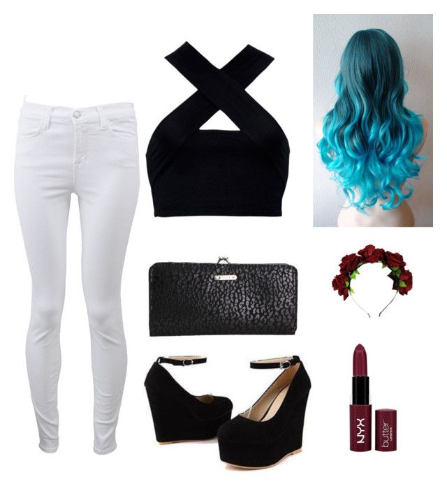 """""""#5"""" by tanith133 ❤ liked on Polyvore featuring J Brand, Motel, Sidewalk and NYX"""
