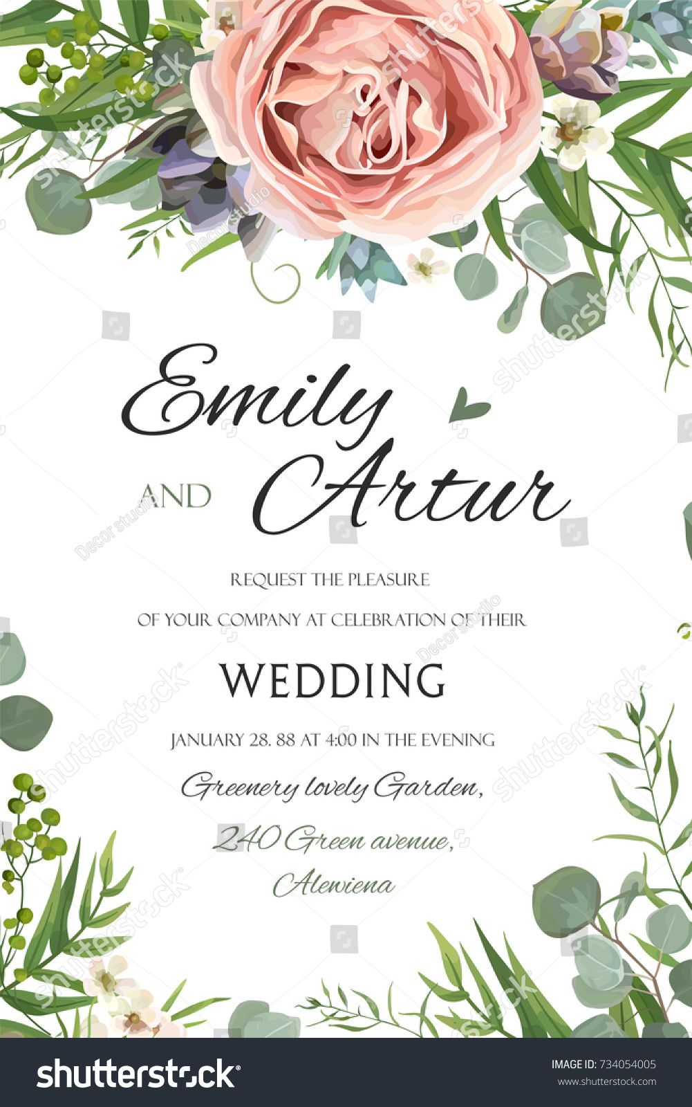 Wedding invitation invite save the date floral card vector design wedding invitation invite save the date floral card vector design garden lavender pink peach stopboris Gallery