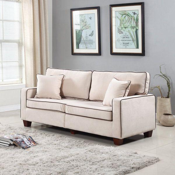 Modern Two Tone Velvet Fabric Living Room Love Seat Sofa Stuff to