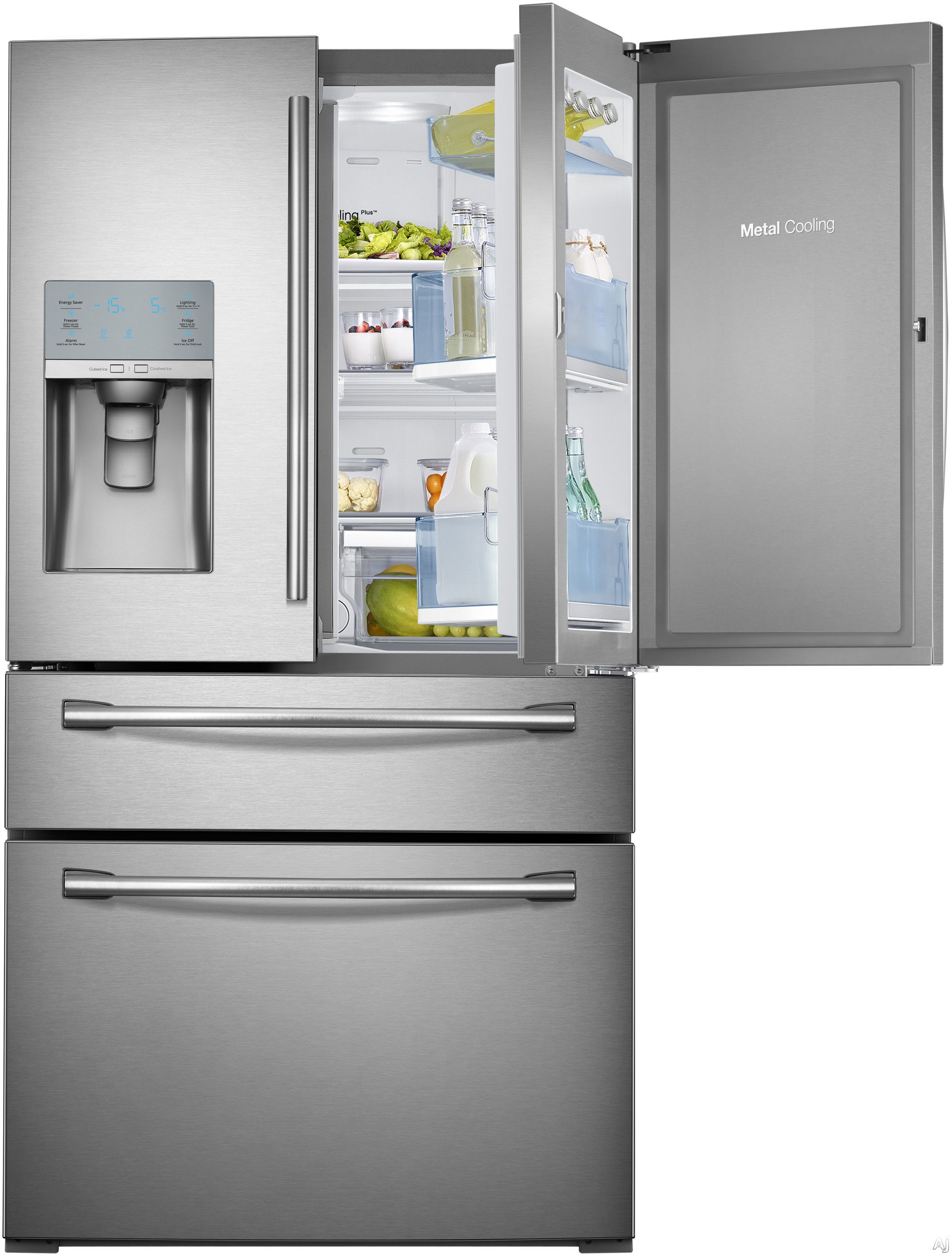 Samsung rfhbedbsr cu ft french door refrigerator with