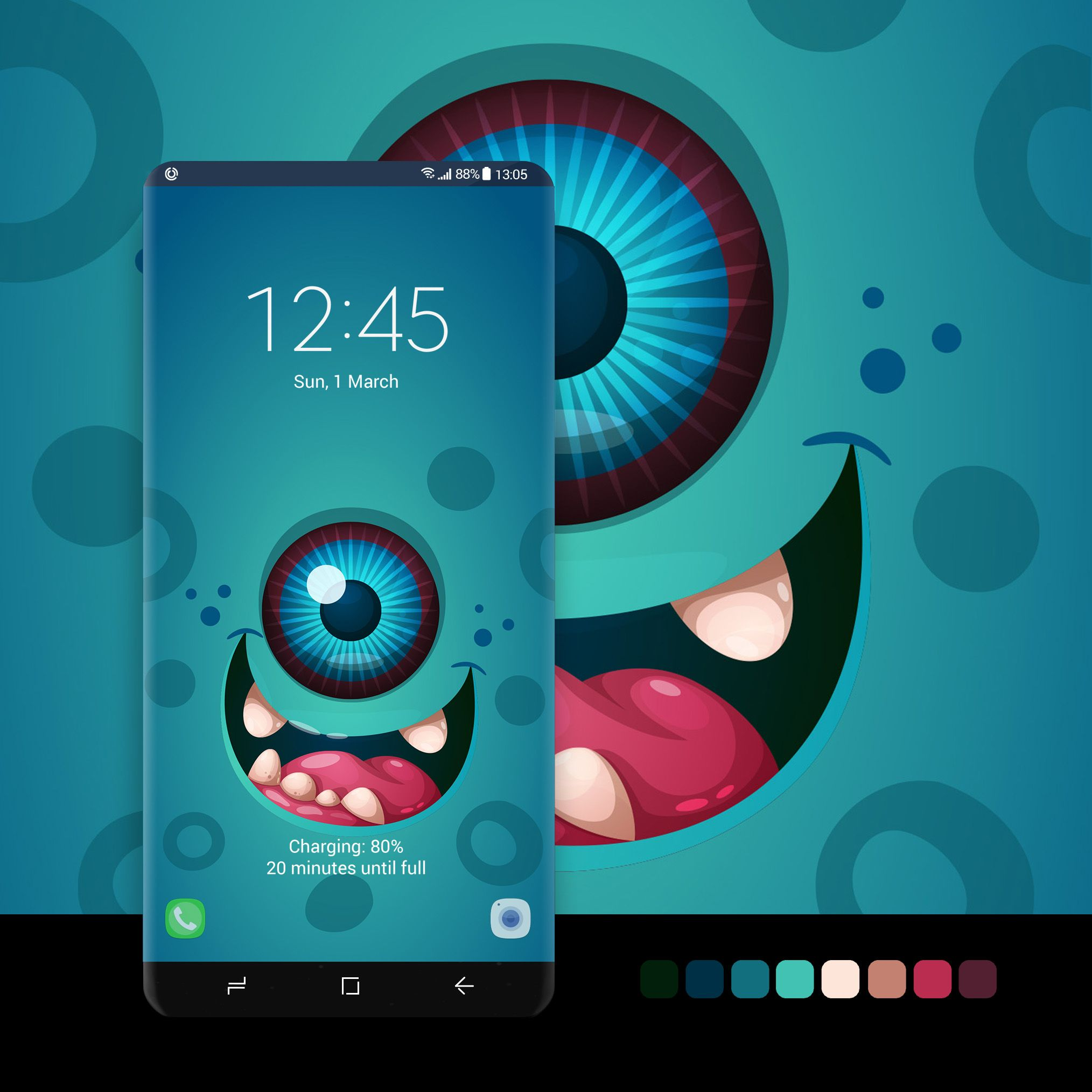 New Smartphone Wallpaper: One-eyed Monster Wallpaper #wallpaper, #android, #phone